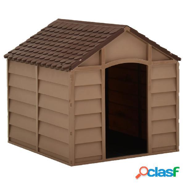 Vidaxl cuccia per cani marrone 71x71,5x68 cm in pp