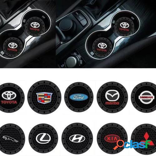 1pcs 2.75inch car logo cup holder silicone coaster