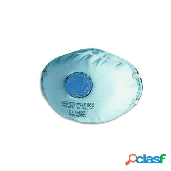 Respiratore sheltech per polveri fumi nebbie e odori fastidiosi ffp2 nr d con valvola r665
