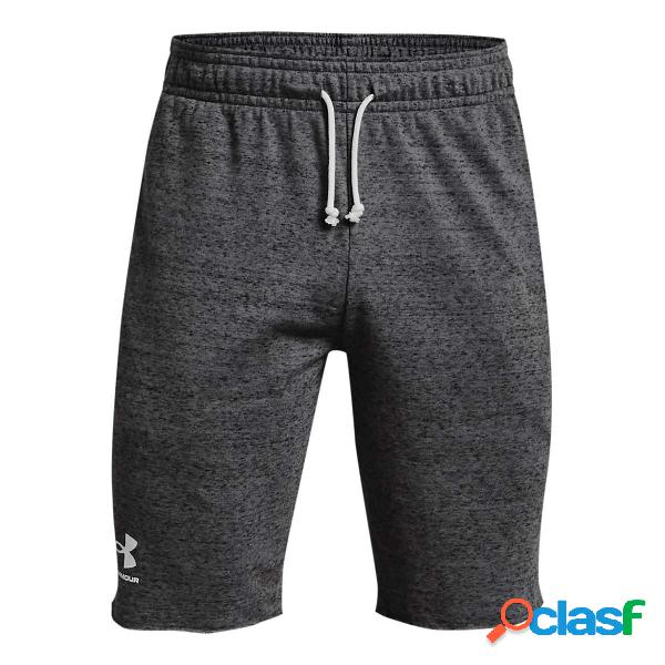 Short under armour rival terry (colore: pitch gray full heather, taglia: s)