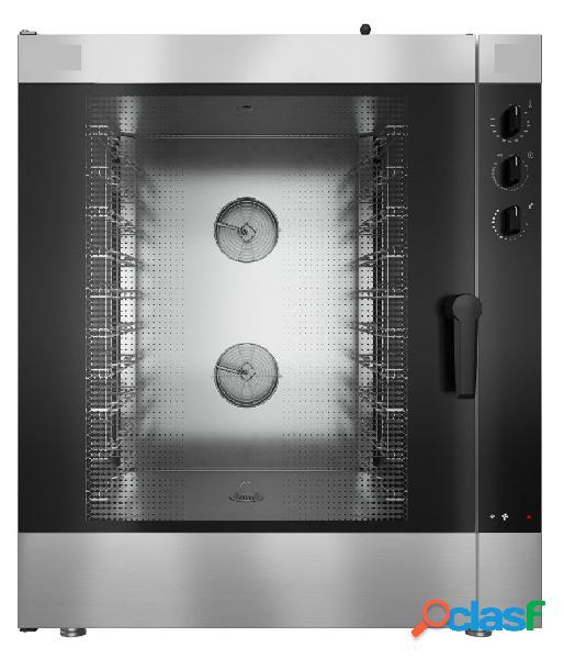 Forno a gas a convezione, comandi elettromeccanici con umidificatore, per 10 teglie gn1/1 o 600x400 mm