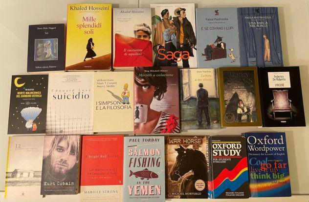 Lotto di libri in italiano e in inglese buone condizioni