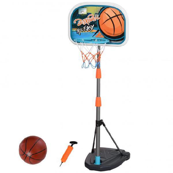 Set canestro per bambini con palla da basket e pompa