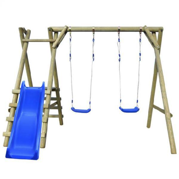 Vidaxl set altalena con scalette e scivolo 270x255x210 cm in