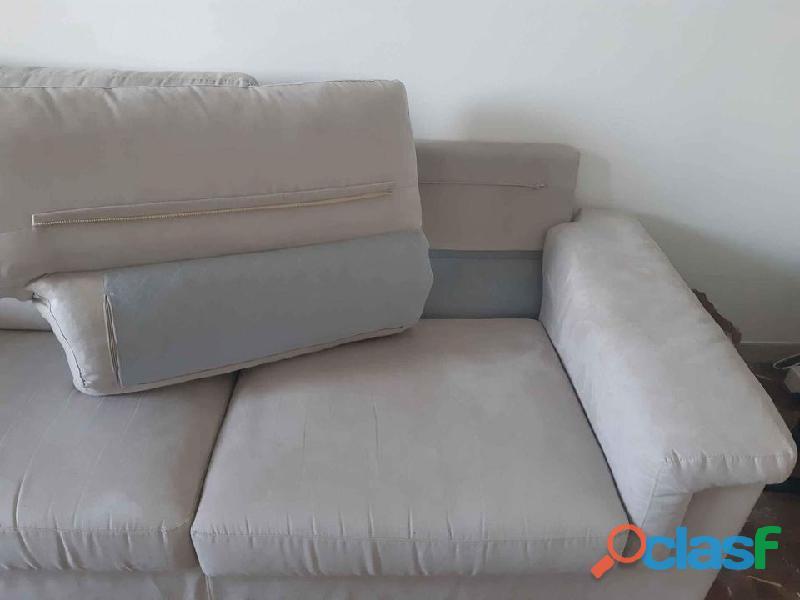 Divano poltrone sofà grigio perla effetto scamosciato