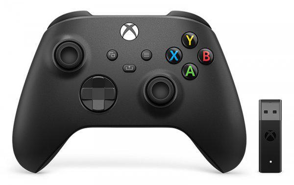Microsoft - xbox controllerwrl+adapter w10