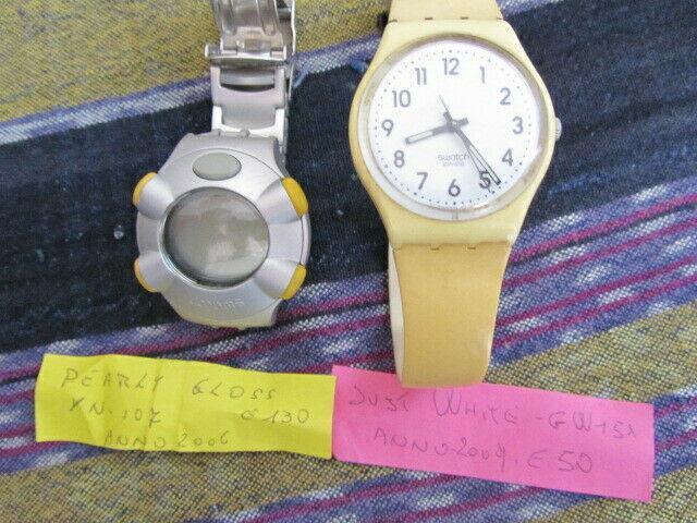 N. 2 orologi swatch.uomo donna.