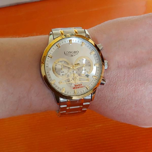 Orologio elegante al quarzo chronograph water resistant