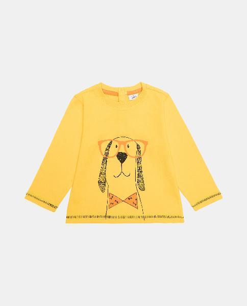 T-shirt di cotone organico stampa neonato