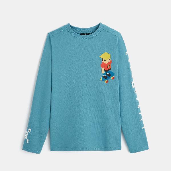 T-shirt con motivo videogiochi z blu