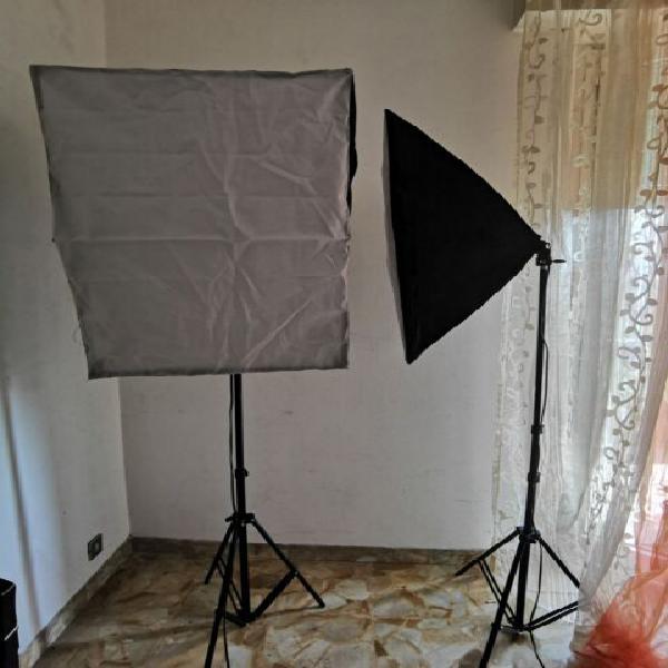 Kit illuminazione fotografico softbox