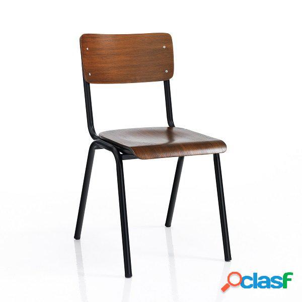 4 sedie moderne e tradizionali scolastiche noce
