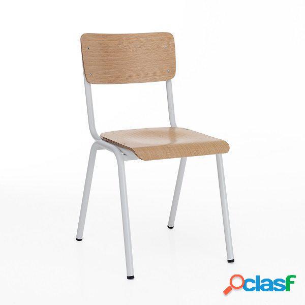 4 sedie moderne e tradizionali scolastiche rovere