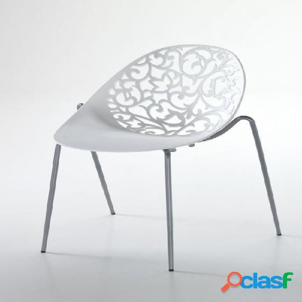 4 sedie moderne lavorate particolari impilabili