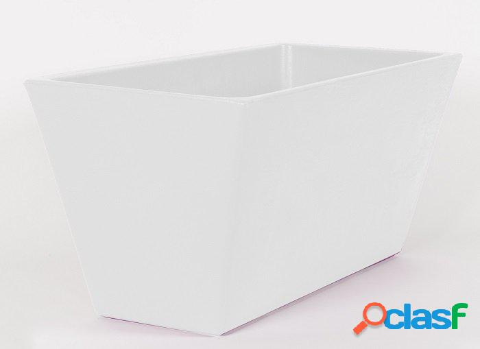 Fioriera moderna bianca da interno/esterno rettangolare 60cm
