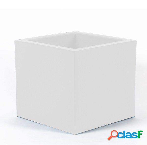 Fioriera moderna quadrata da interno/esterno bianco grande