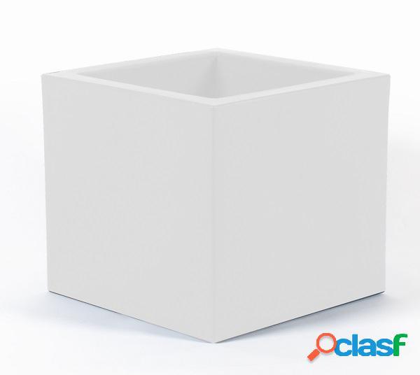 Fioriera moderna quadrata da interno/esterno bianco piccola