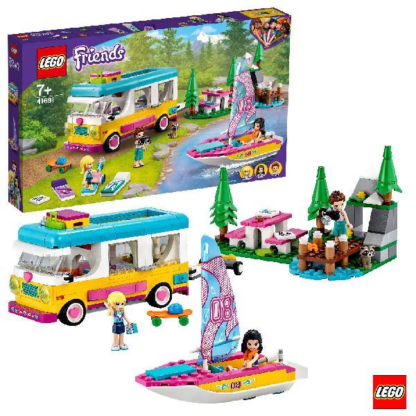 Lego friends camper van nel bosco conbarca a vela 41681