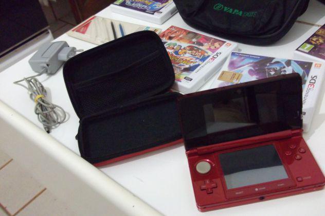 Console nintendo 3ds + accessori + giochi - usato