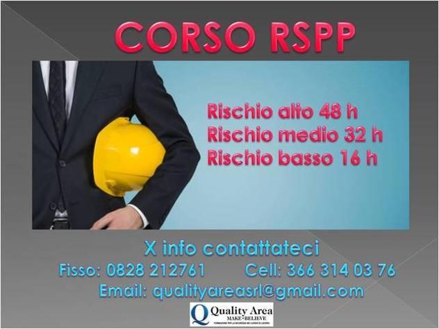 Corso rspp(sicurezza lavoro)