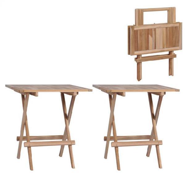 Vidaxl tavolo pieghevole da bistrò 2pz 60x60x65cm legno