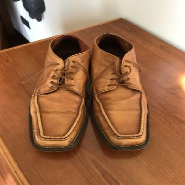 Scarpe pelle tg 41 suola vero cuoio, lavorazione artigiana