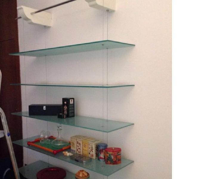 Libreria vetro e acciaio in vendita Milano - Vendita mobili usati