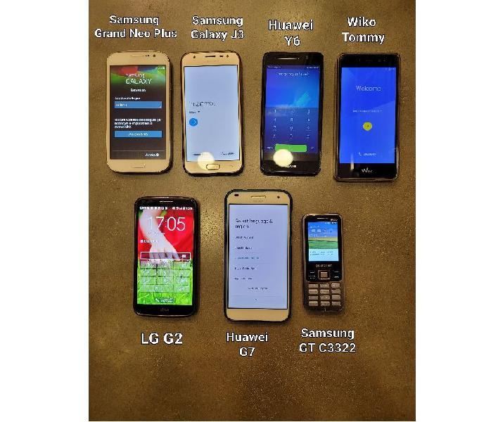 Lotto Stock di Smartphone Cellulari Android Funzionanti Nettuno