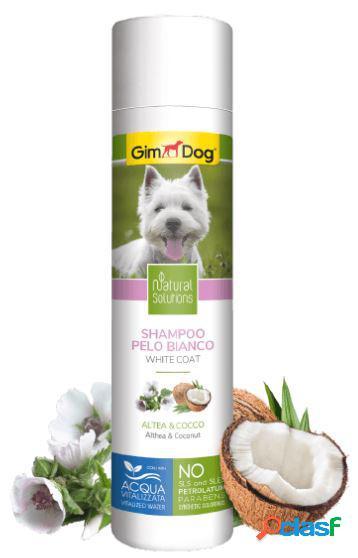 Gimdog natural solutions shampoo per cani 250 ml pelo bianco altea...