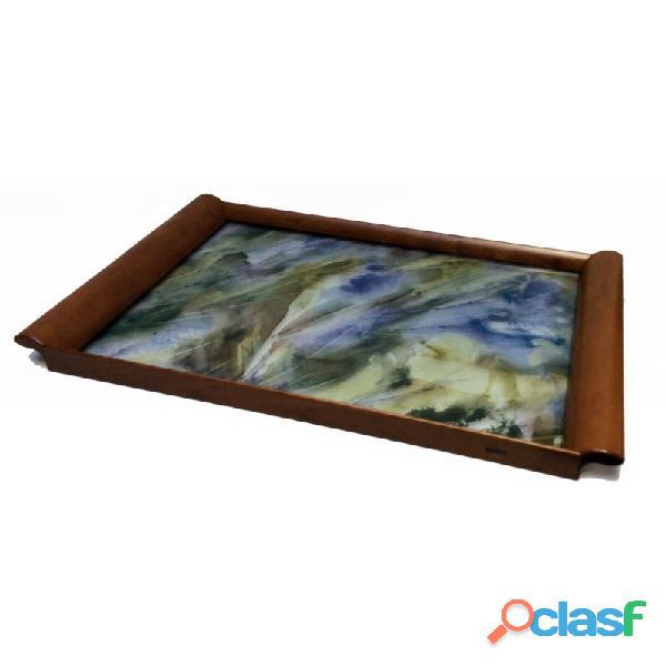 Vassoio in legno e vetro (idea regalo)