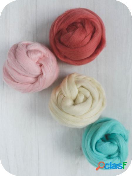 Mix di tops lana merino extra fine colori assortiti - 500 g