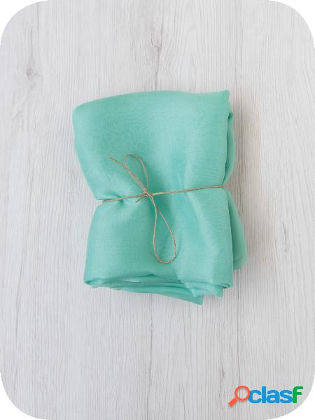 Temporary - maxi foulard di seta chiffon 6 135x135 cm paradiso - 1 pz.