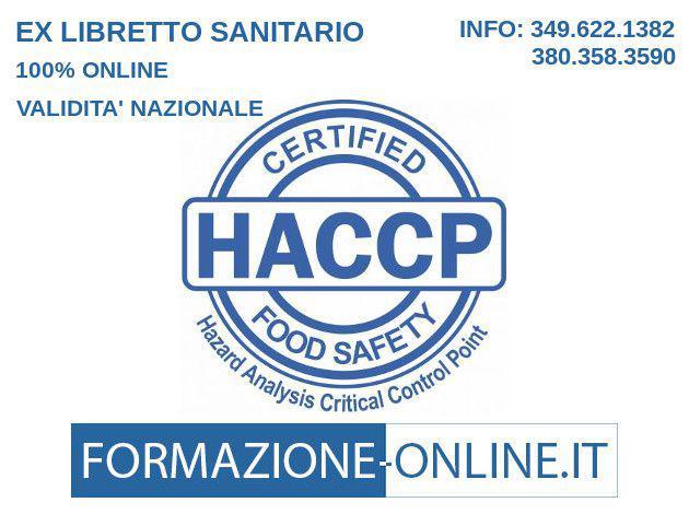Corso online alimentarista - attestato haccp - bolzano