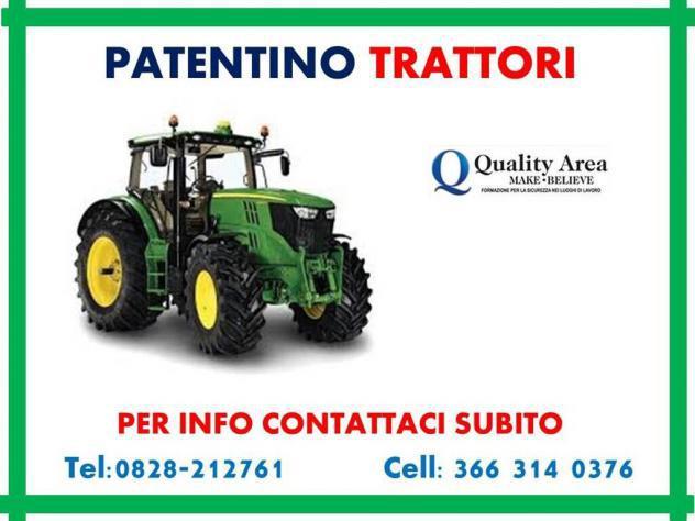 Patentino trattori agricoli e forestali (in tutta italia)