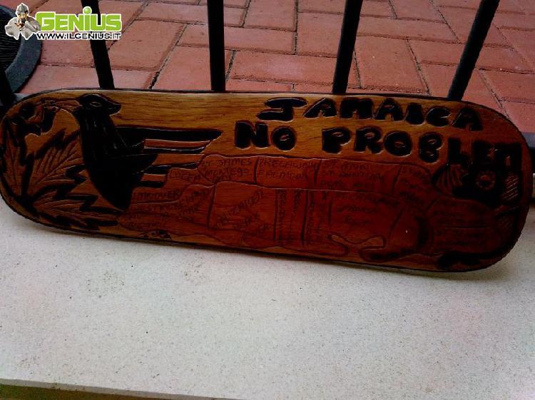 Quadretto in legno jamaica no problem originale misure: cm