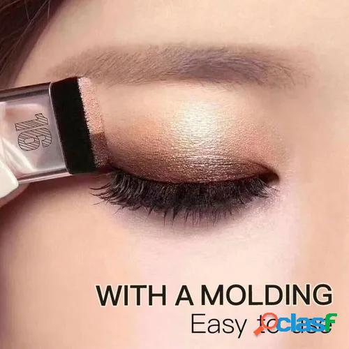 Women 3 seconds eyeshadow quick makeup double color gradation eye shadow easy to use long lasting waterproof eyeshadow palette shine cosmetic tools