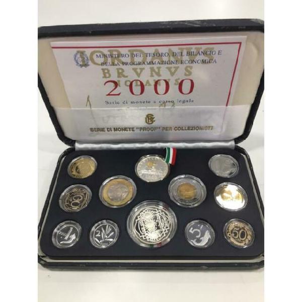 Serie monete proof lire con scatola