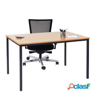 Tavolo per ufficio lody, 160x80x75cm, in legno e acciaio