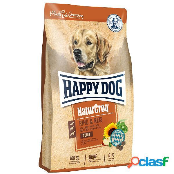 Happy dog naturcroq manzo & riso 12 kg