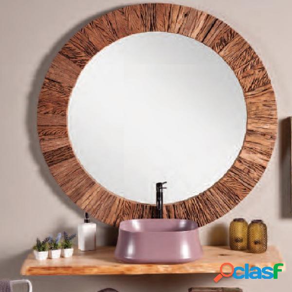 Specchiera etnica madera round