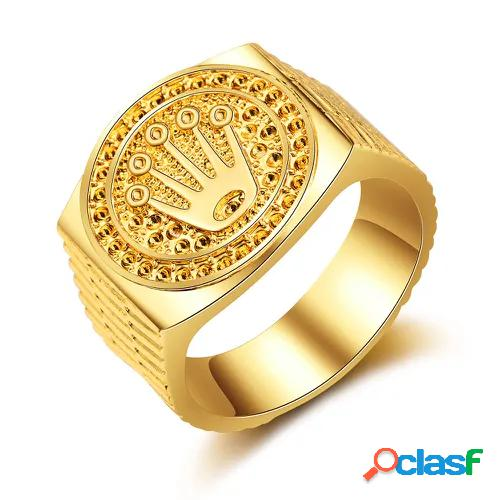 Hip hop crown ring gold ring jewelry wedding ring