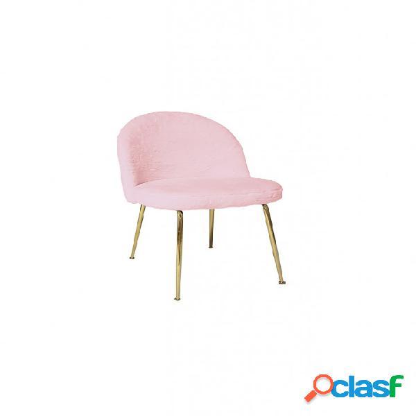 Set sedie montmartre tessuto rosa con gambe in ottone