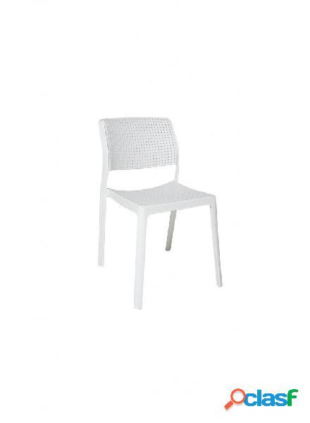 Set sedie smichov in polipropilene bianca