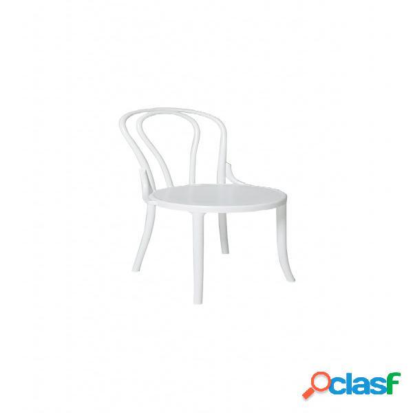 Set sedie peninsula in polipropilene bianco