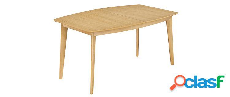 Tavolo da pranzo allungabile scandinavo in legno chiaro l150-200 leena