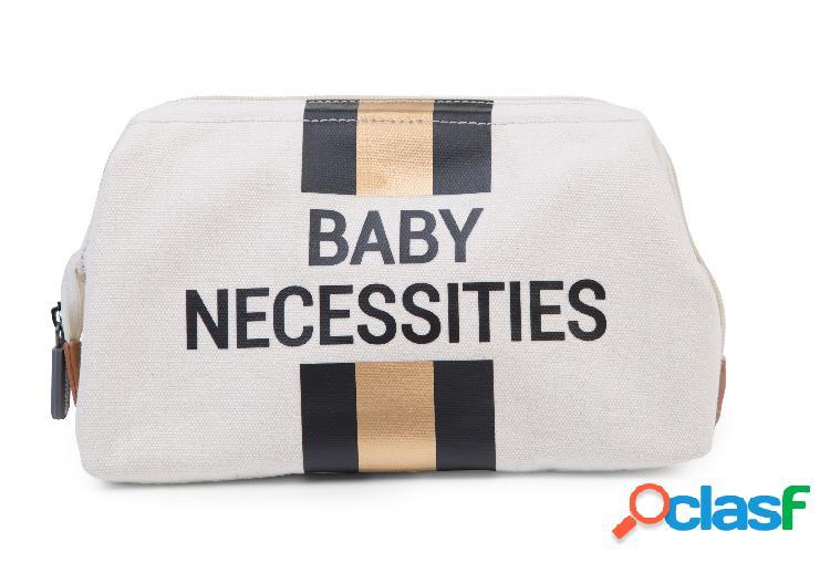 Borsa da toilette childhome baby necessities off white oro/nero