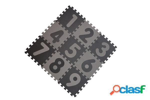 Tappetone in foam numerato babydan grigio