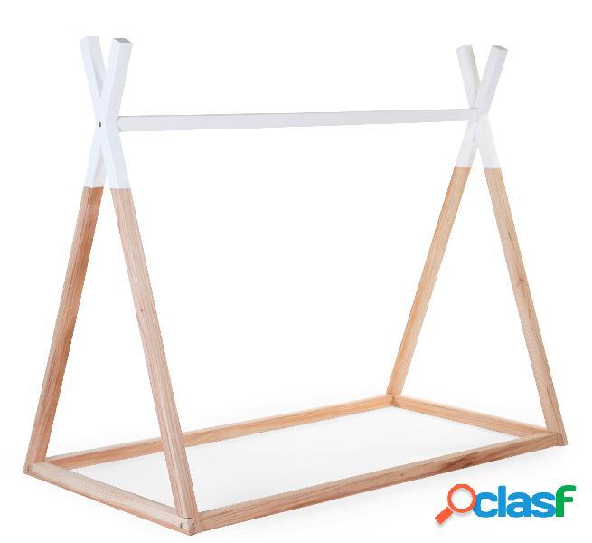 Struttura hippy childhome 70x140 montessori legno bianco