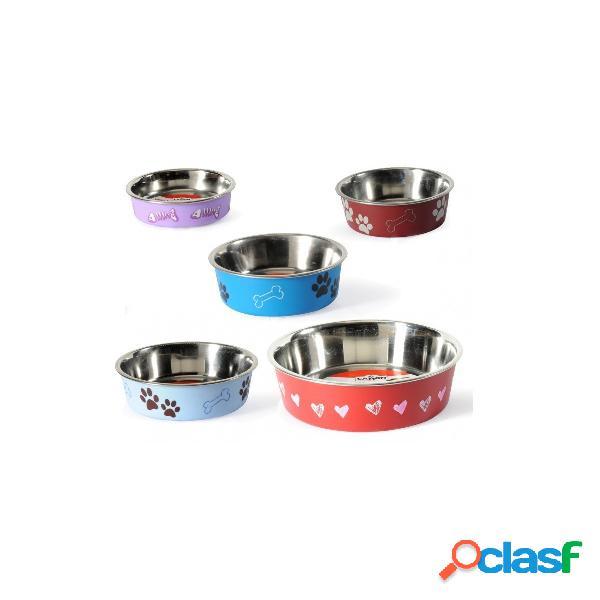 Ciotola per cani di piccola taglia e gatti in acciaio rivestito ø 14 cm camon