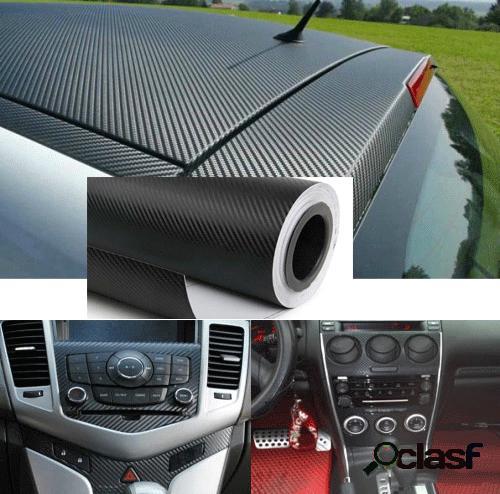 Black waterproof 3d car carbon fiber sticker diy self adhesive stickers best sell